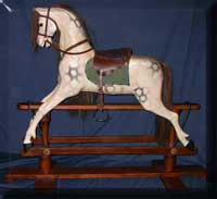 finished-G and J Lines rocking horse